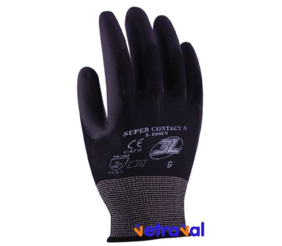 Guante Supercontact Negro (12 pares)