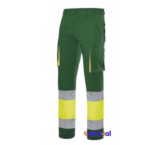 Pantalón Stretch Bicolor AV Amarillo Verde