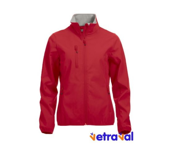 Chaqueta softshell ladies clique color rojo
