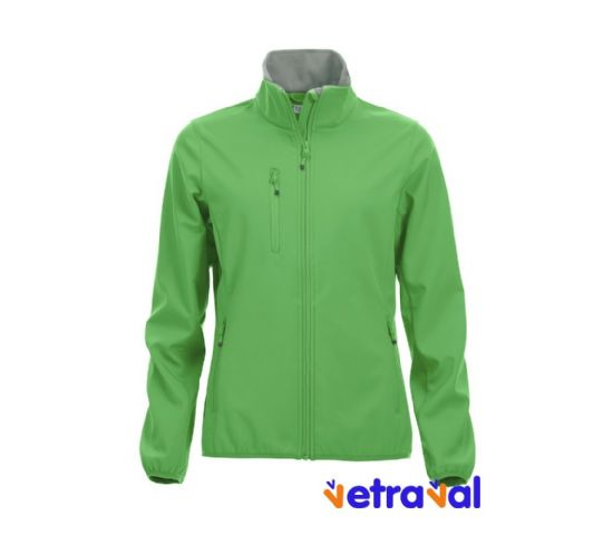 Chaqueta softshell ladies clique color verde manzana
