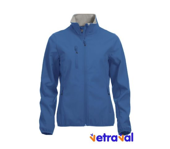 Chaqueta softshell ladies clique color azul real