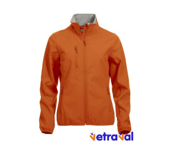 Chaqueta softshell ladies clique color naranja