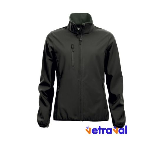 Chaqueta softshell ladies clique color negro